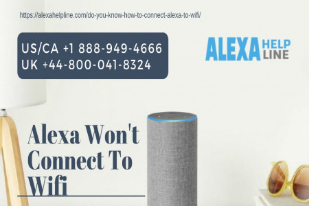Steps to Fix Alexa Won't Connect To Wi-Fi – +1 888-949-4666 Infographic