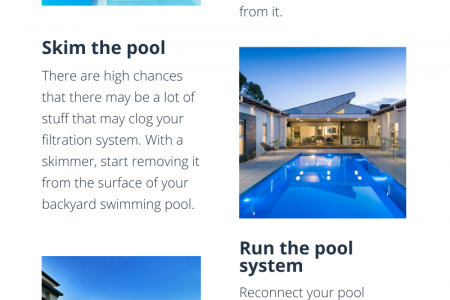 Steps to maintain your concrete swimming pool in Geelong Infographic