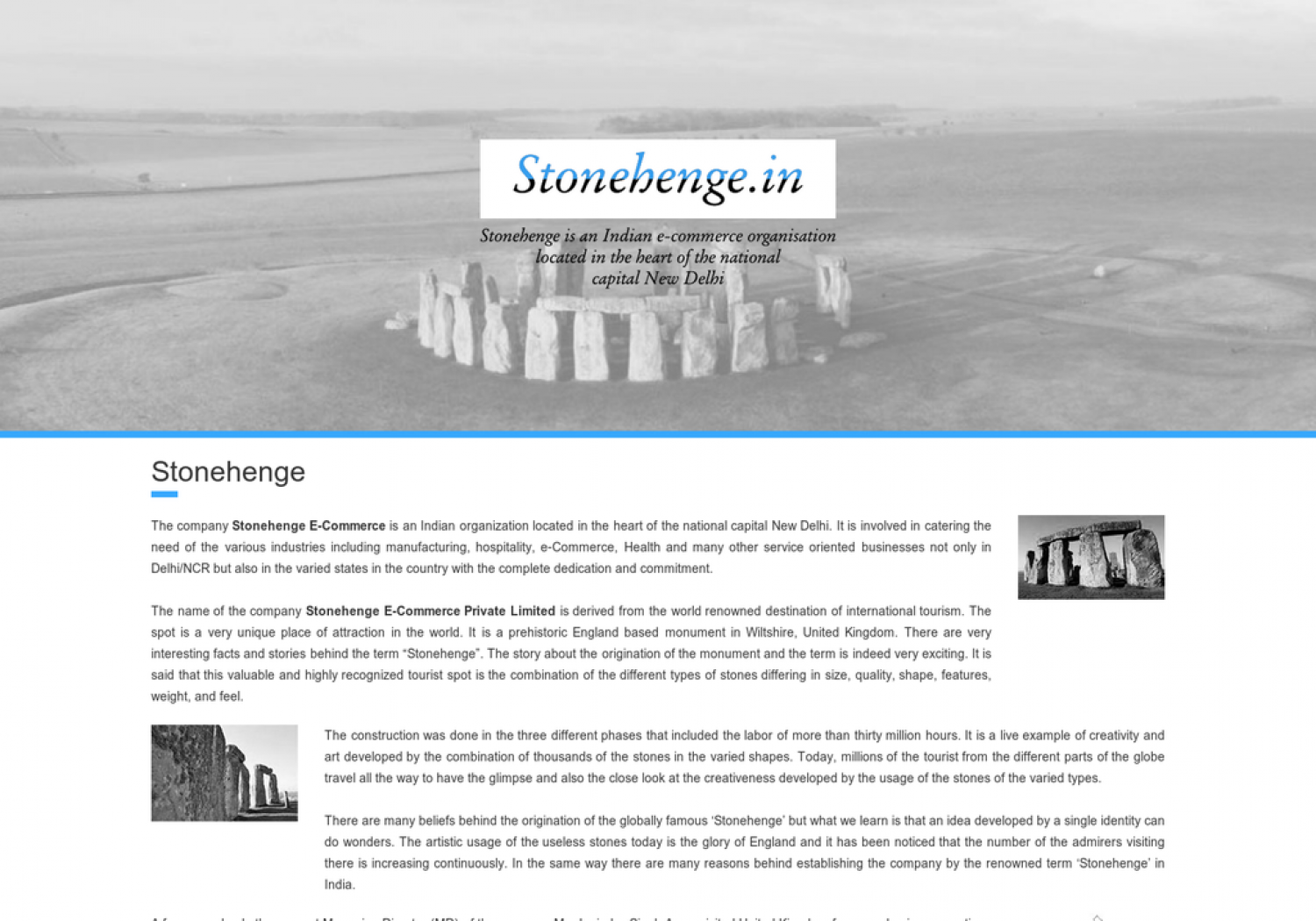 Stonehenge E-Commerce Private Limited Launched Online Bus Ticket Booking Website Infographic