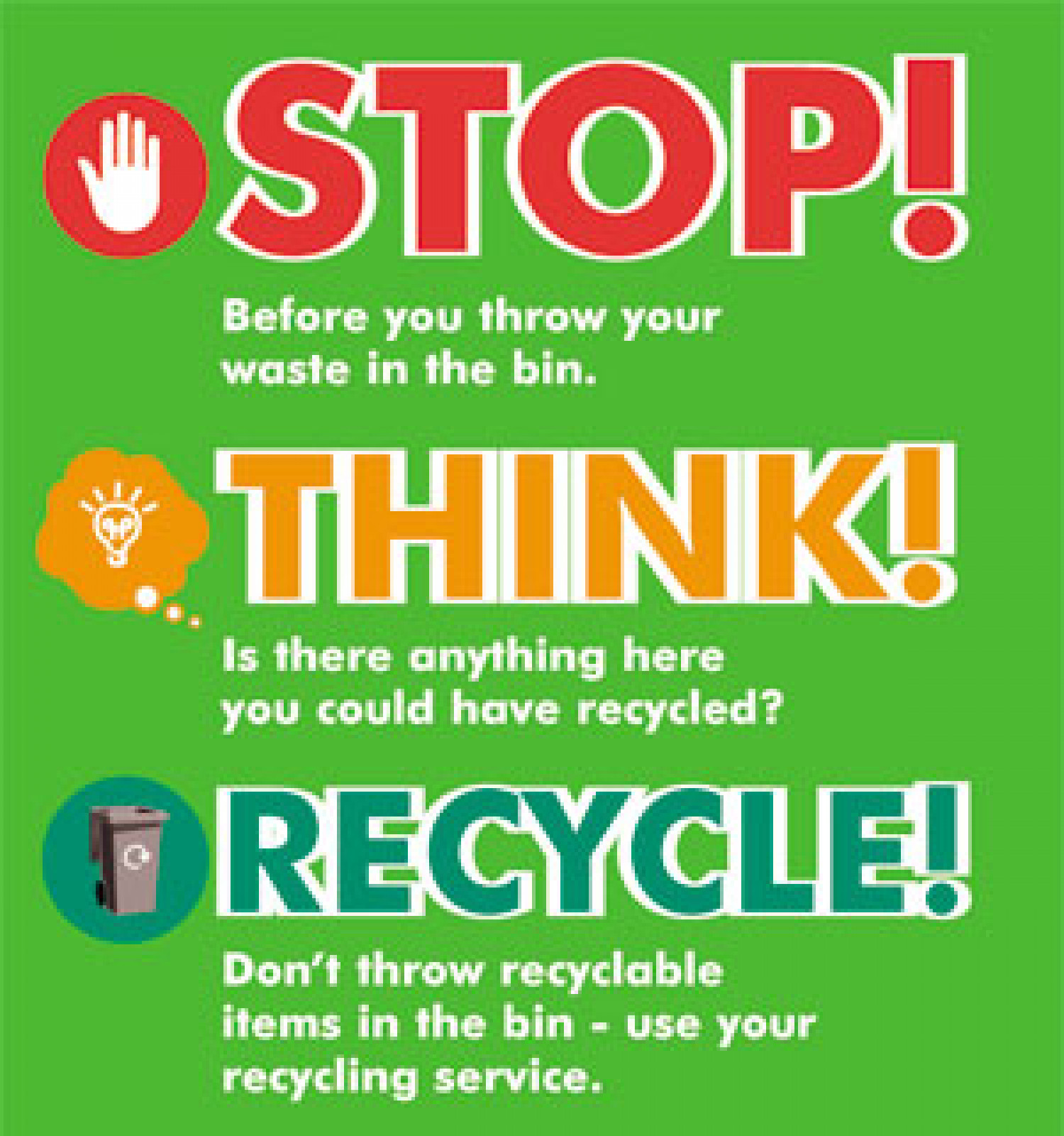 Stop Think and Recycle your Electronic items Infographic