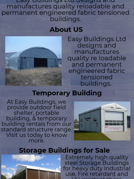 Storage Buildings for Sale - Easy Buildings UK Infographic