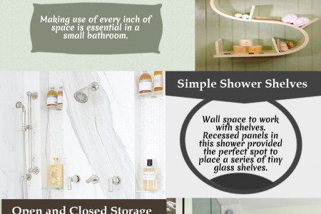 Storage Ideas For Bathroom Infographic