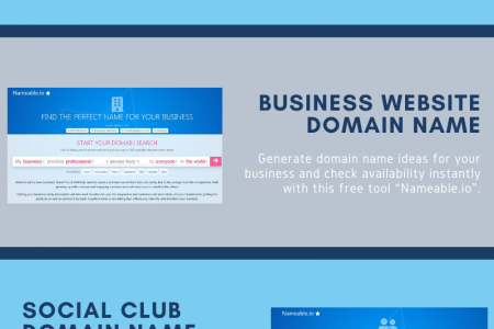 Store Domain Name Generator Infographic