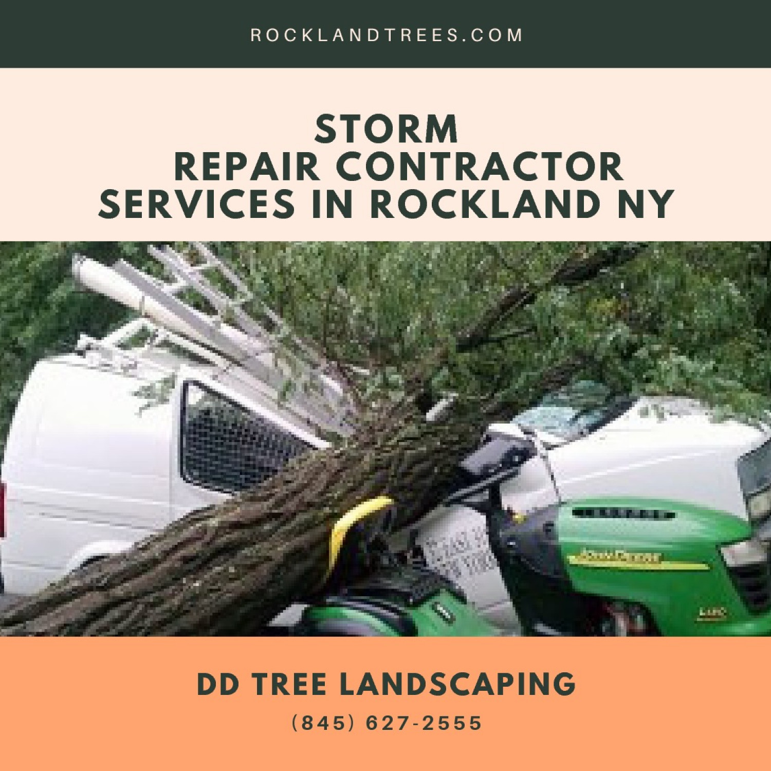 Storm Repair Contractor Services in Rockland NY Infographic
