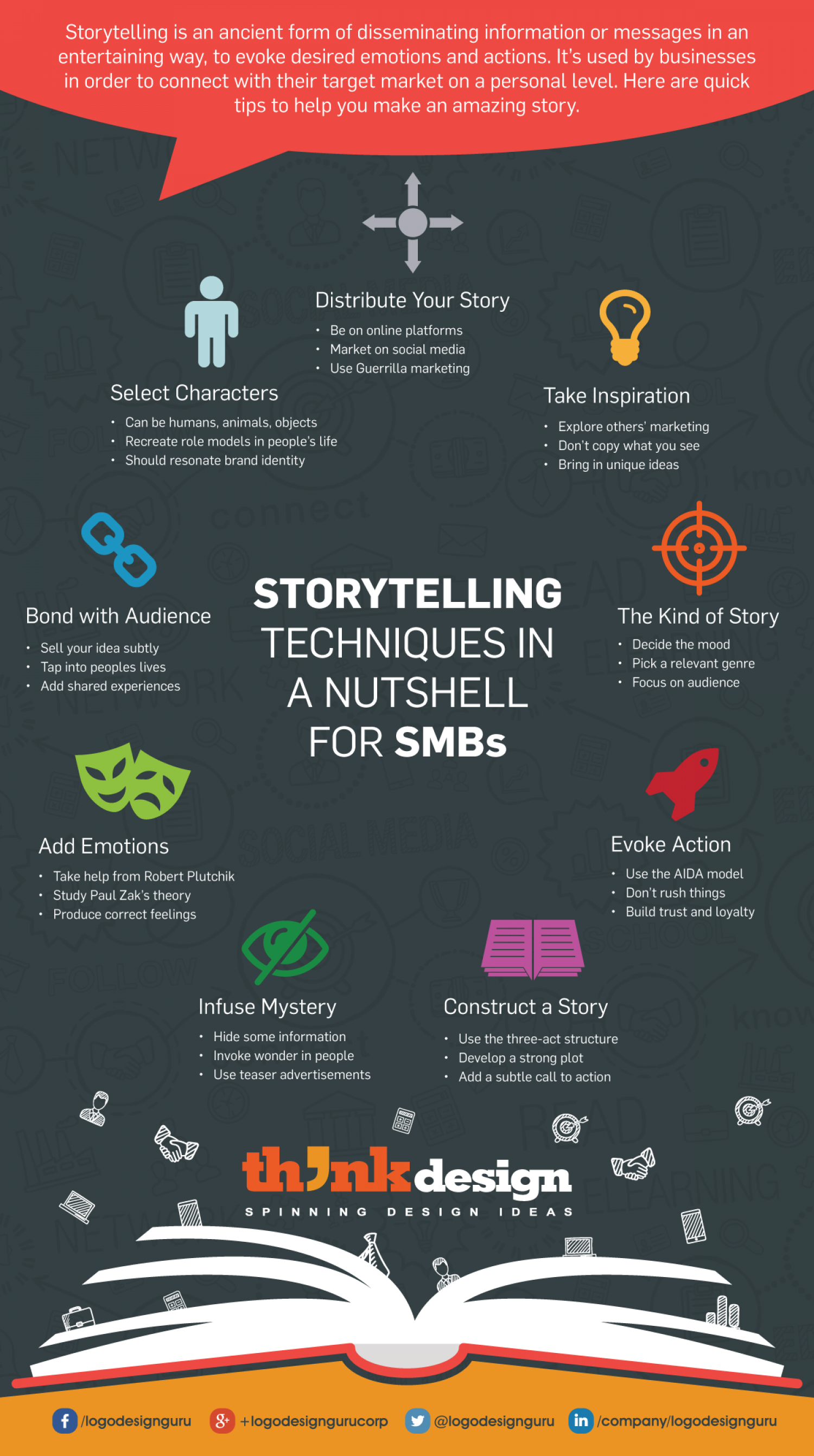 Storytelling Techniques in a Nutshell for SMBs Infographic