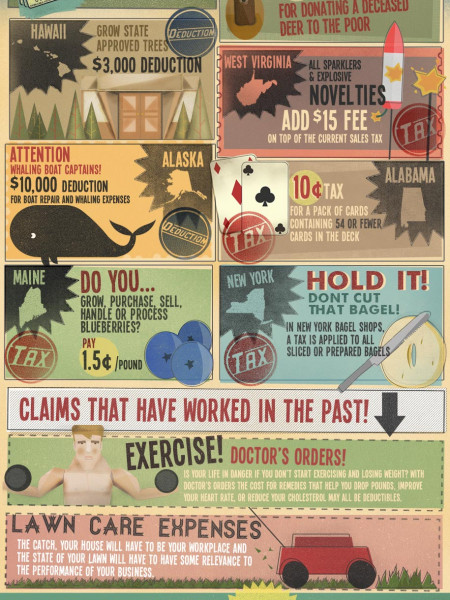Strange Taxes & Deductions Infographic