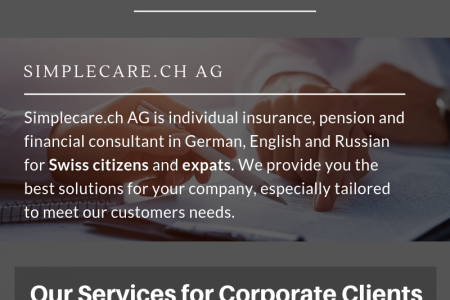 Strategic Corporate Insurance, Pension and Financial Consultancy Infographic