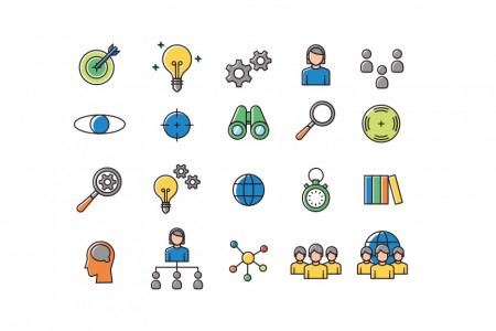 Strategy Presentation Icons | Free Download Infographic