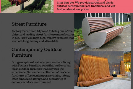 Street Furniture - www.factoryfurniture.co.uk Infographic