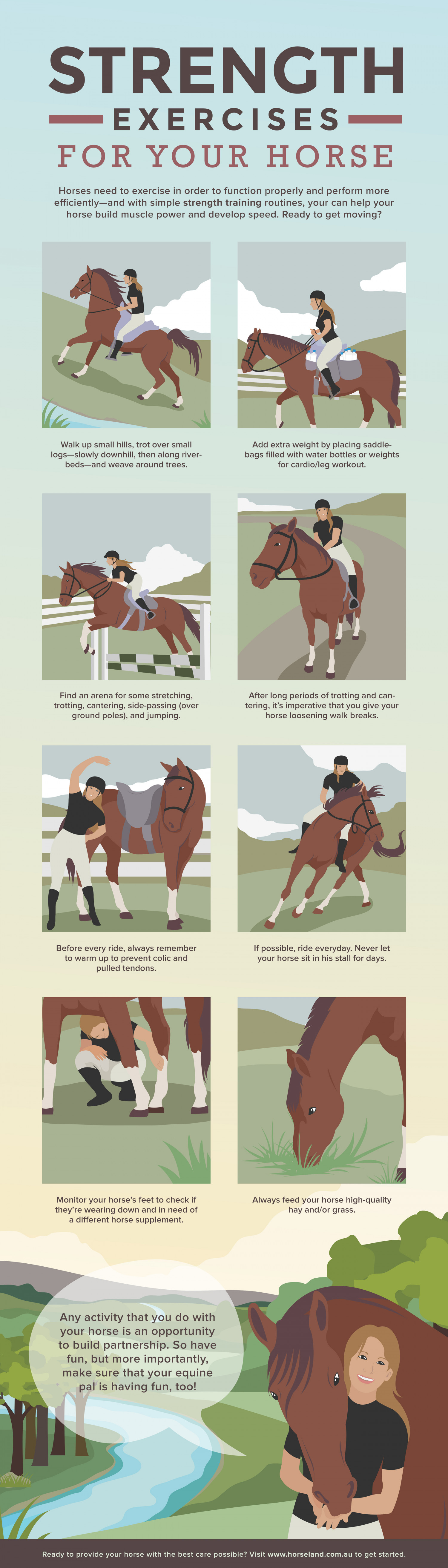 Strength Exercises for Your Horse Infographic