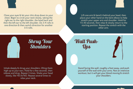 Stretching Exercises at Your Desk Infographic