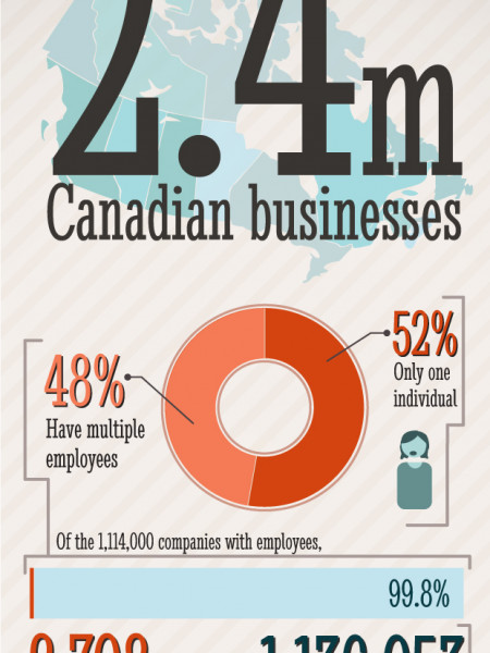 Structure of Canada's Private Sector Infographic