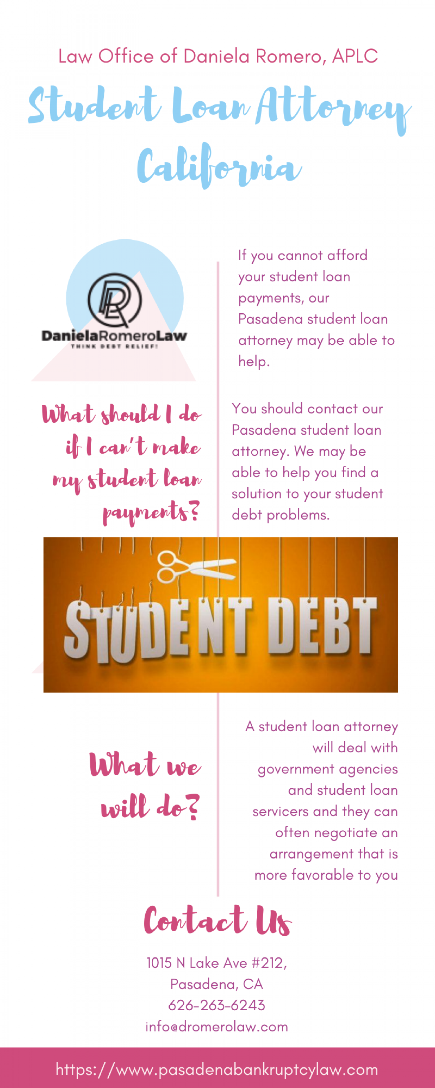 Student Loan Attorney California Infographic