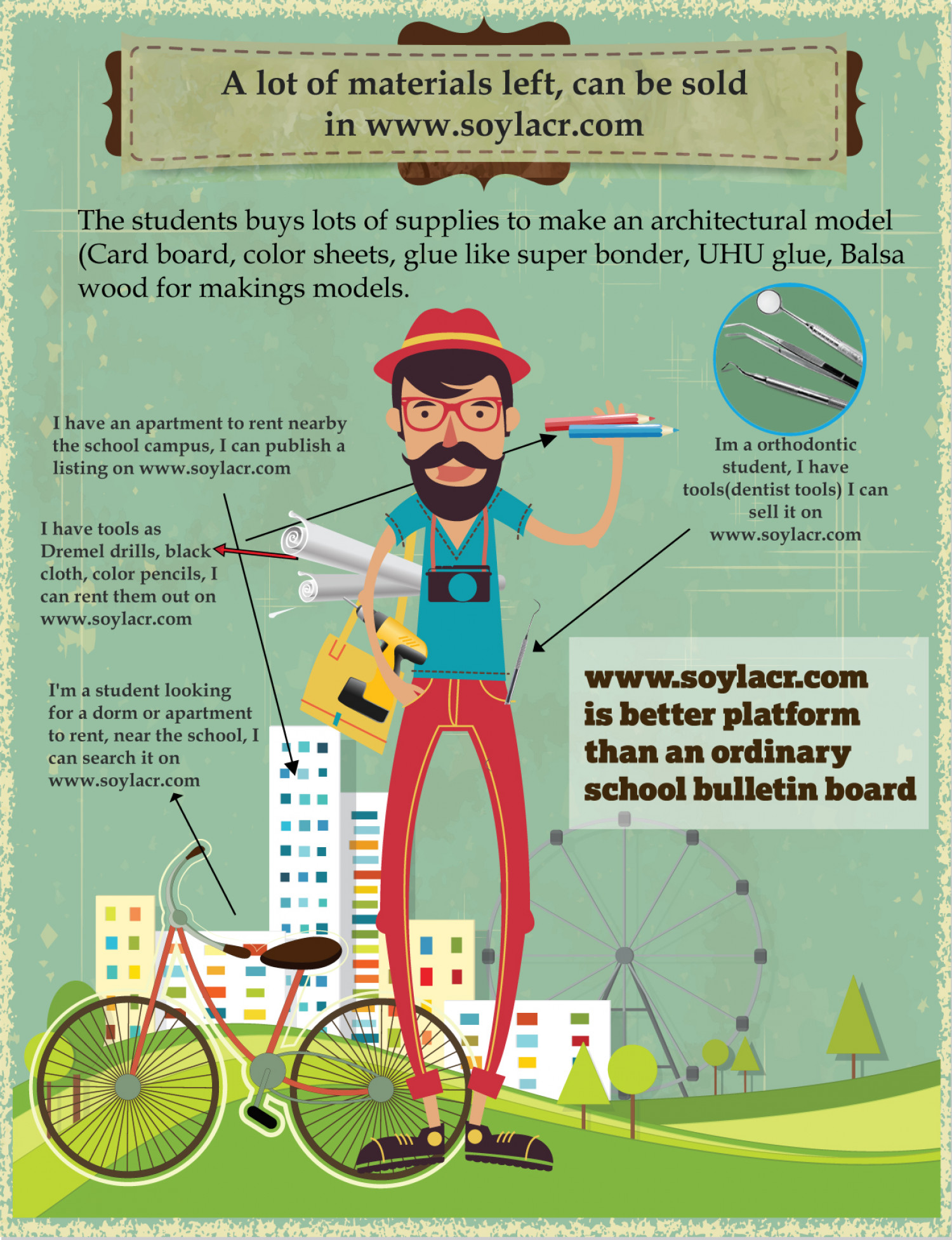 Student marketplace (hipster) Infographic