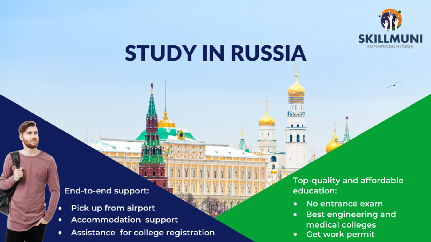 Study In Russia | Skillmuni | Top Gamification Companies Infographic