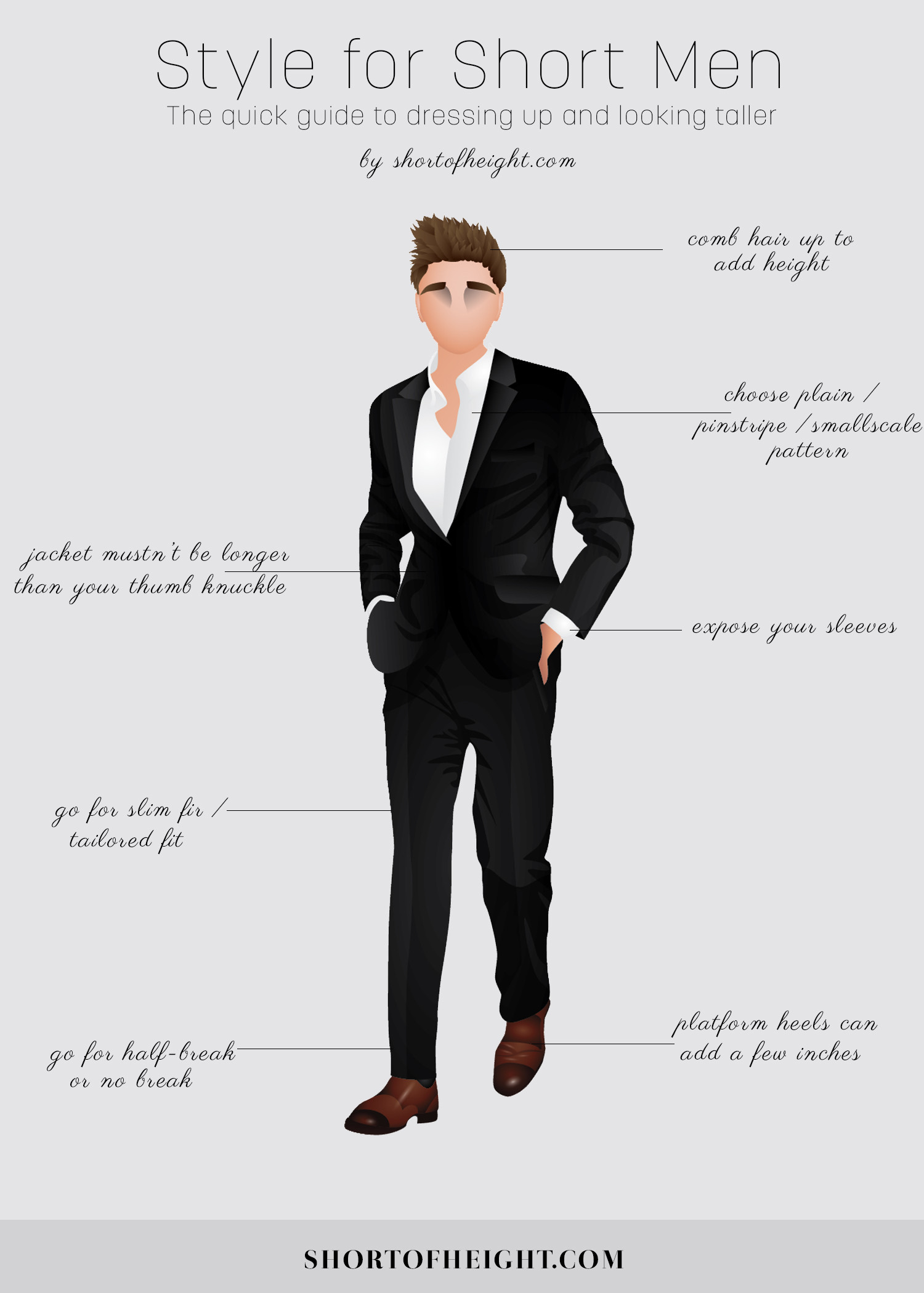 Style for Short Men Infographic  Infographic
