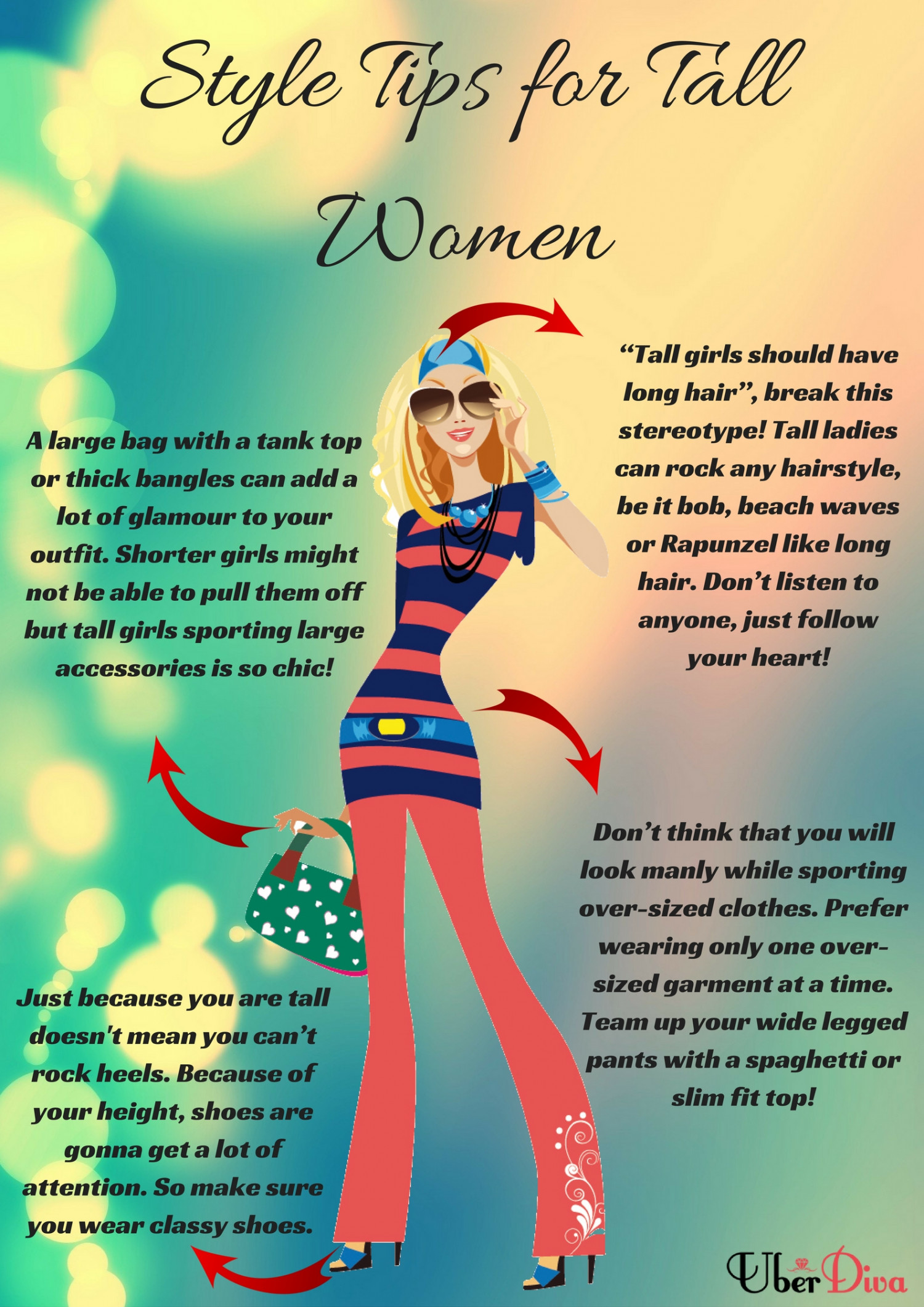 Style Tips For Tall Women Infographic