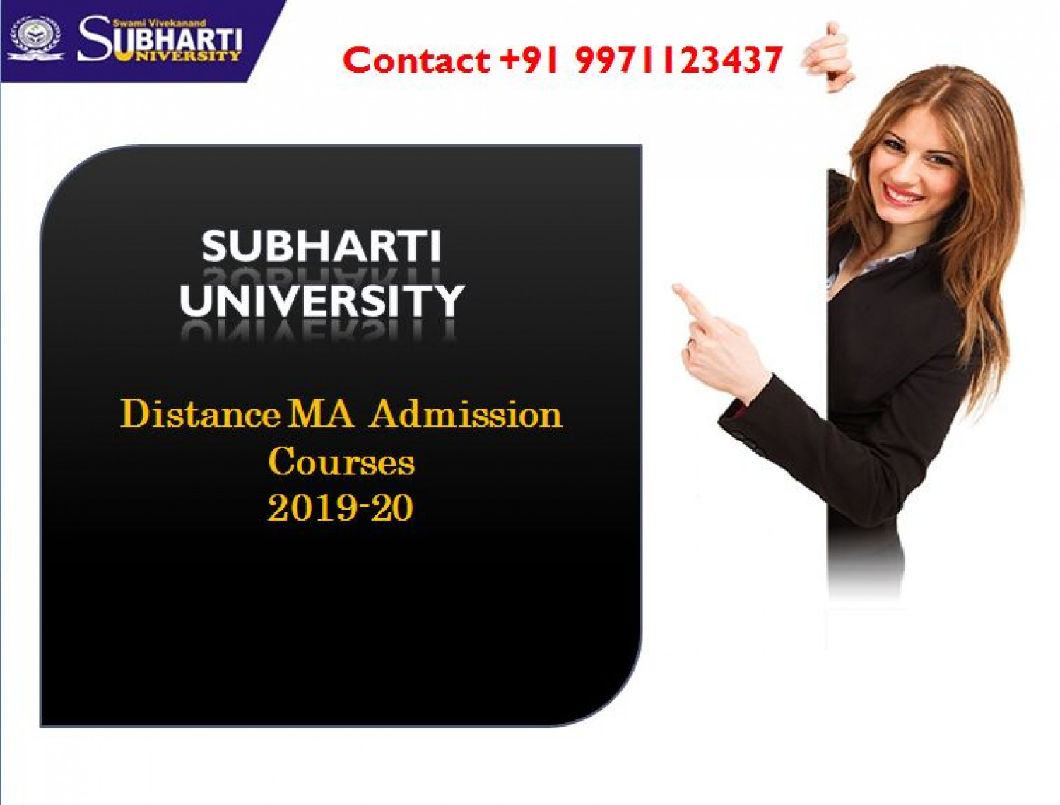 Subharti University: Distance MA Admission Courses Infographic