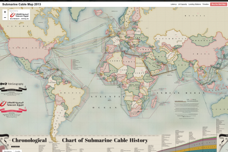 Submarine Cable Map 2013 Infographic