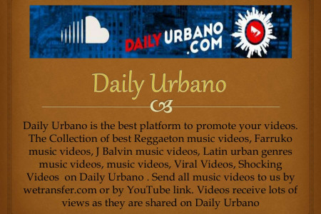 Submit a music video on Daily Urbano Infographic