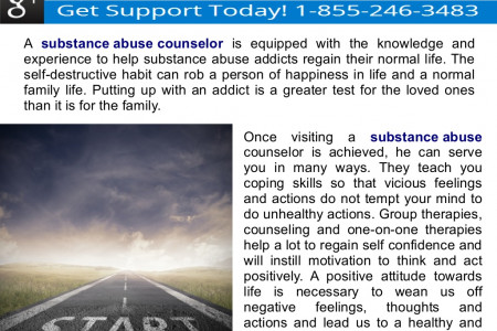 Substance Abuse Counselors can Help You Get Back to Normal Life Infographic
