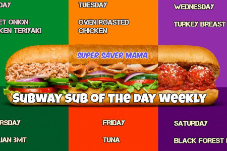 Subway Sub of the Day | SUB OF THE DAY | USA Infographic