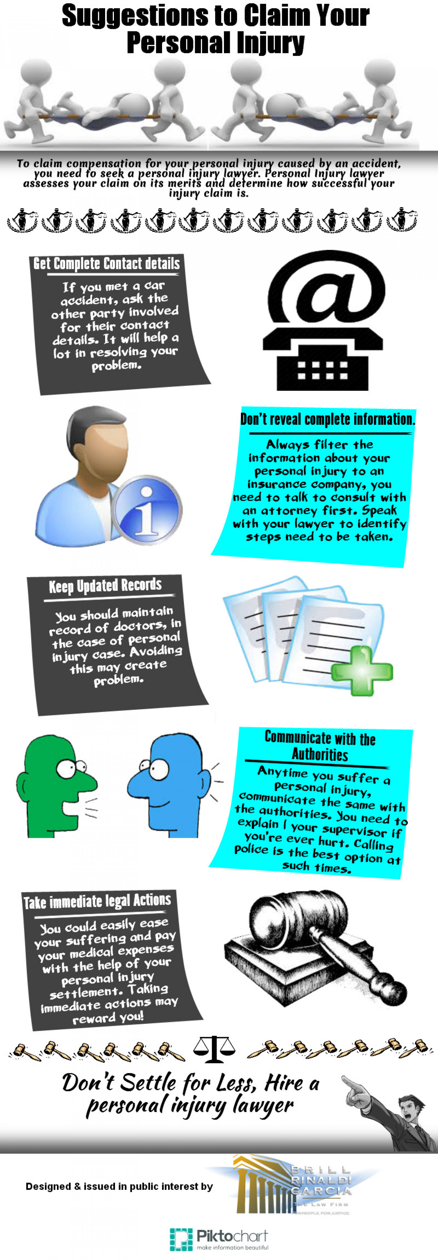 Suggestions to Claim Your Personal Injury Infographic