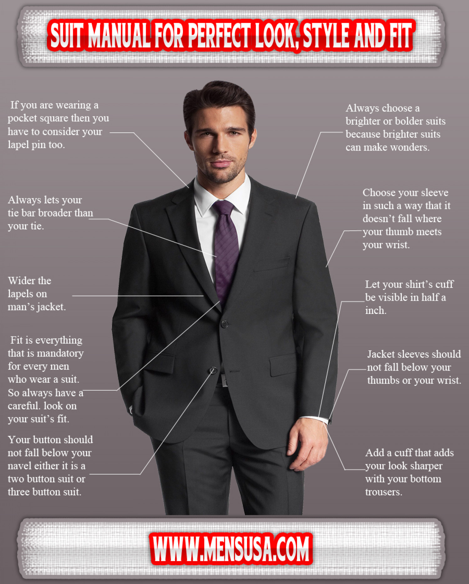 98e9e33c445 Suit manual for perfect look