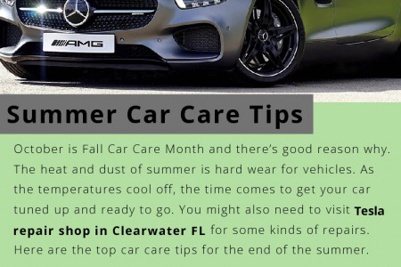 Summer Car Care Tips Infographic