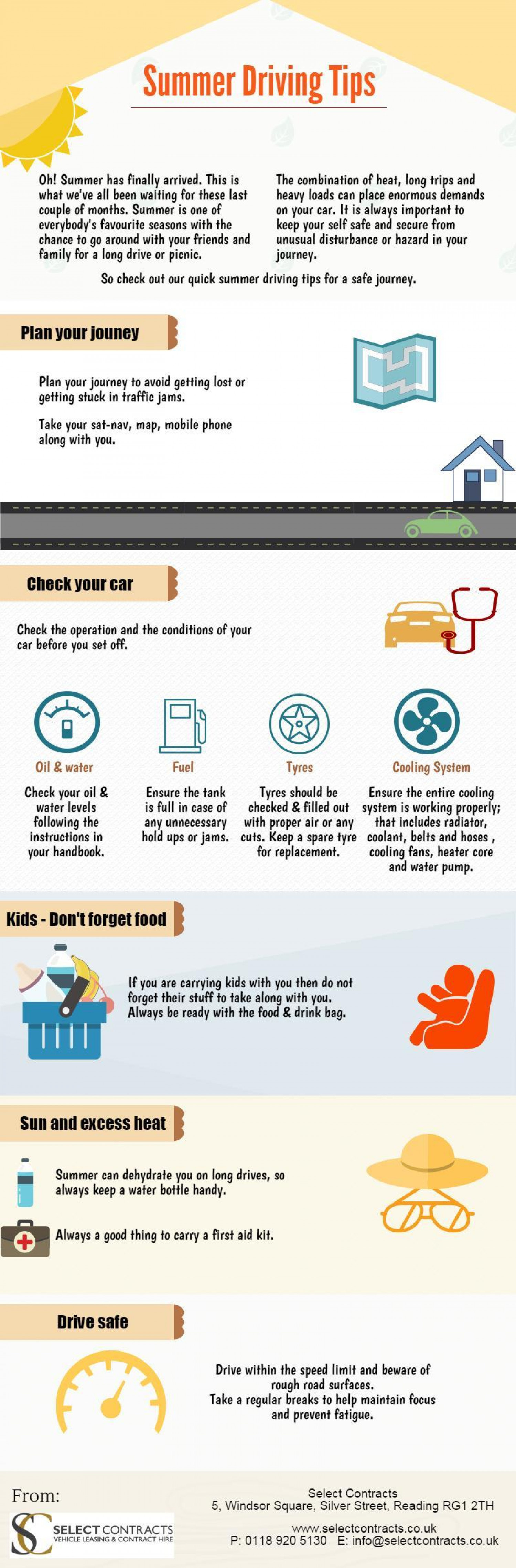 Summer Driving Tips Infographic