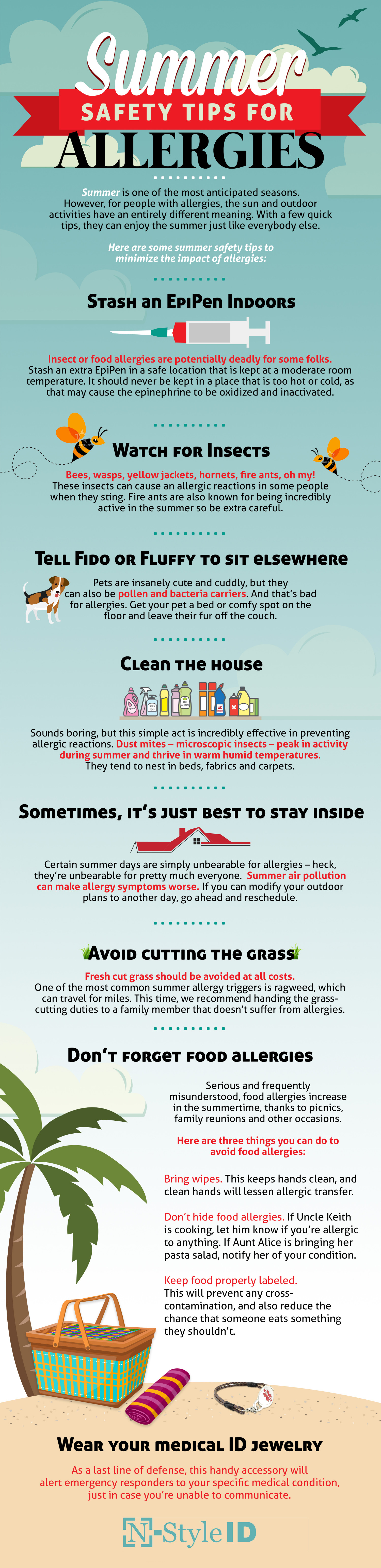 Summer Safety Allergy Tips  Infographic
