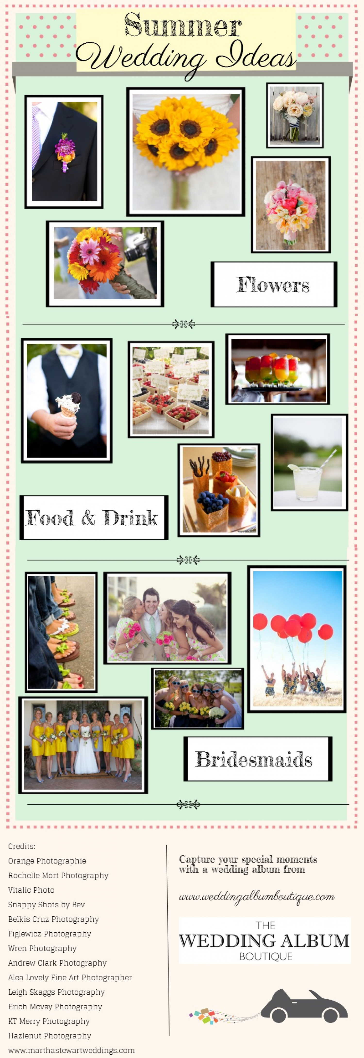 Summer Wedding Ideas Infographic