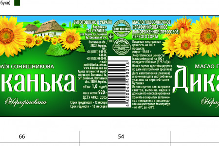 sunflower oil label Infographic