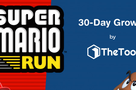 Super Mario Run for iPhone: 30-Day Growth Infographic Infographic