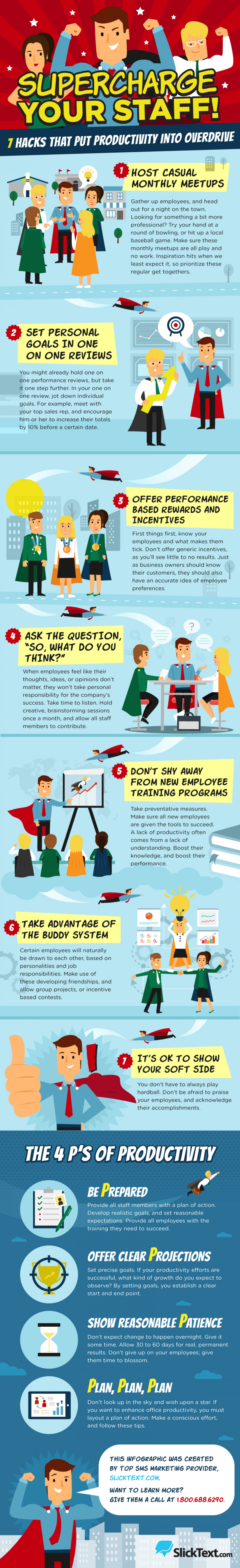 Supercharge Your Staff! 7 Hacks That Put Productivity into Overdrive Infographic