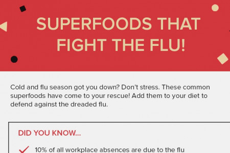 Superfoods that fight the flu Infographic