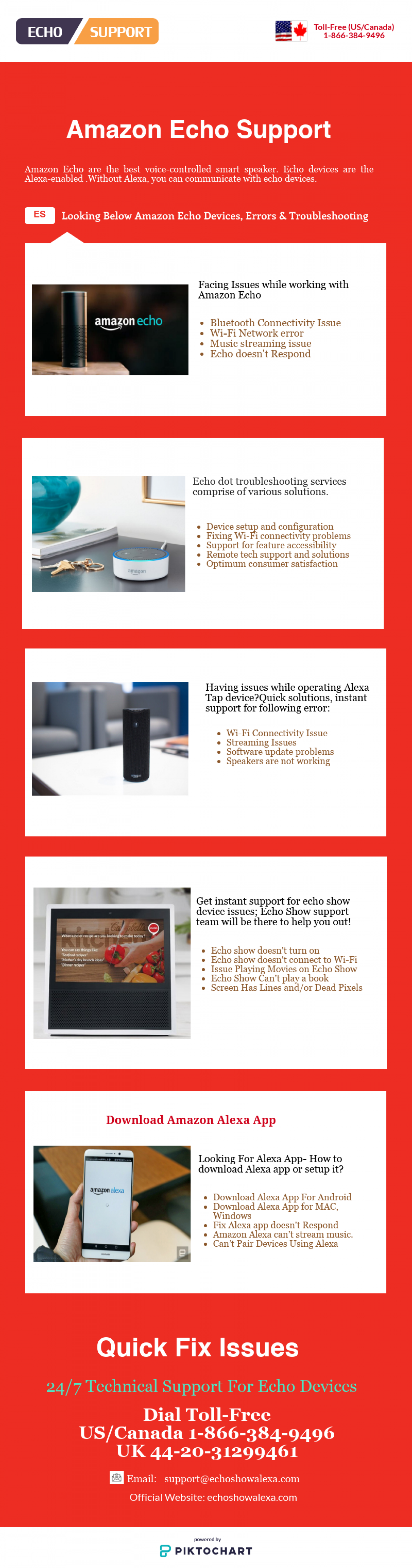 Support For Amazon Echo Devices Infographic