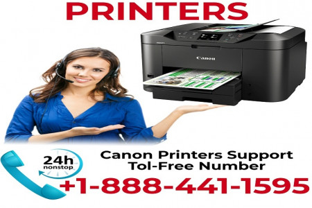 support for canon printer | Canon Printer Support Phone Number | +1-888-441-1595 Infographic