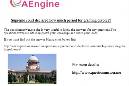 Supreme court declared how much period for granting divorce? Infographic