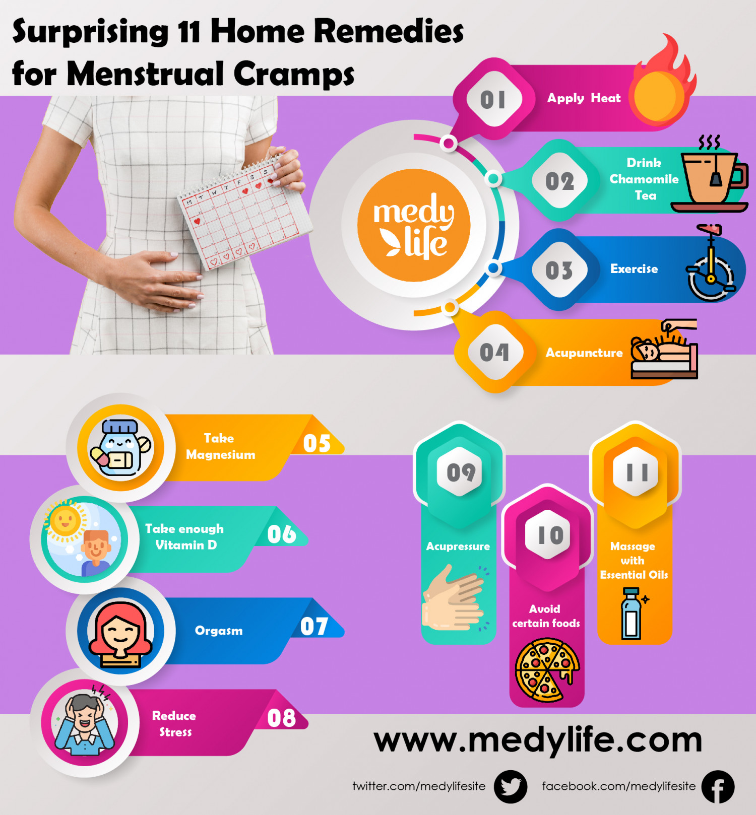 Surprising Tips to Prevent Menstrual Cramps Infographic