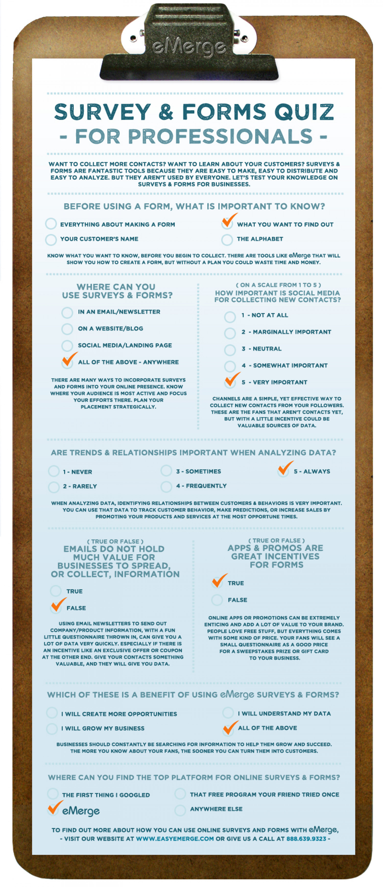 Survey & Forms Quiz - For Professionals Infographic