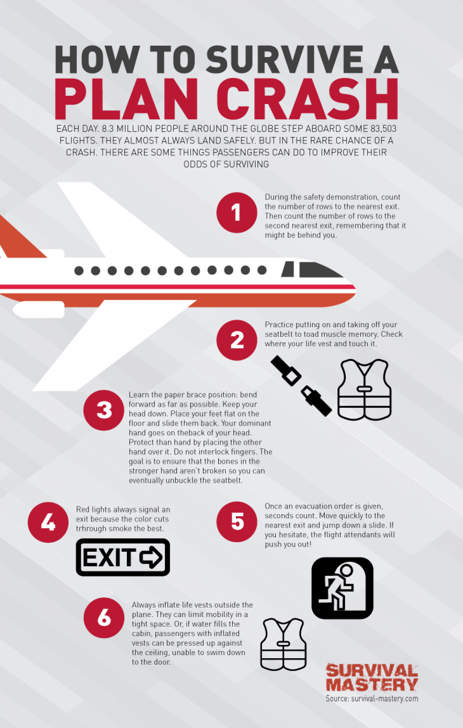 Survive A Plane Crash Infographic Infographic