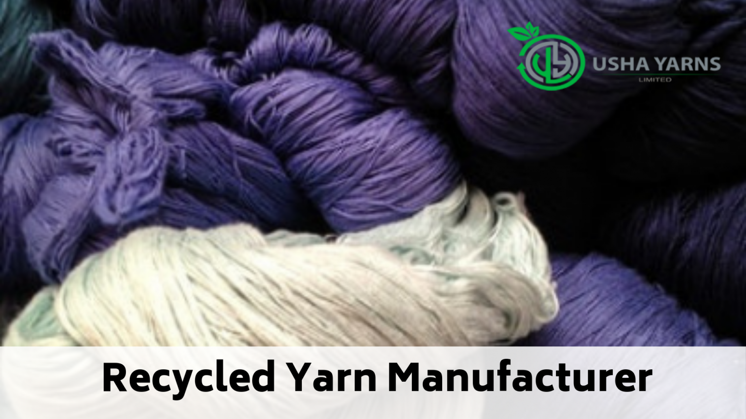 Sustainable Recycled Yarn Manufacturer Infographic