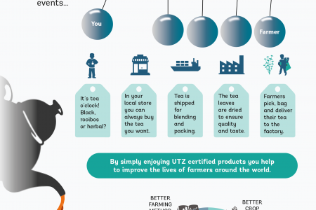 Sustainable Tea. Your Feel Good Moment.. Infographic