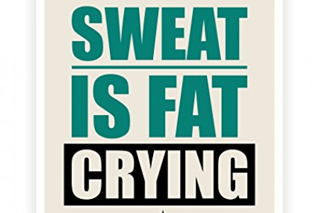 Sweat Is Fat Crying Gym Motivational Quotes Infographic