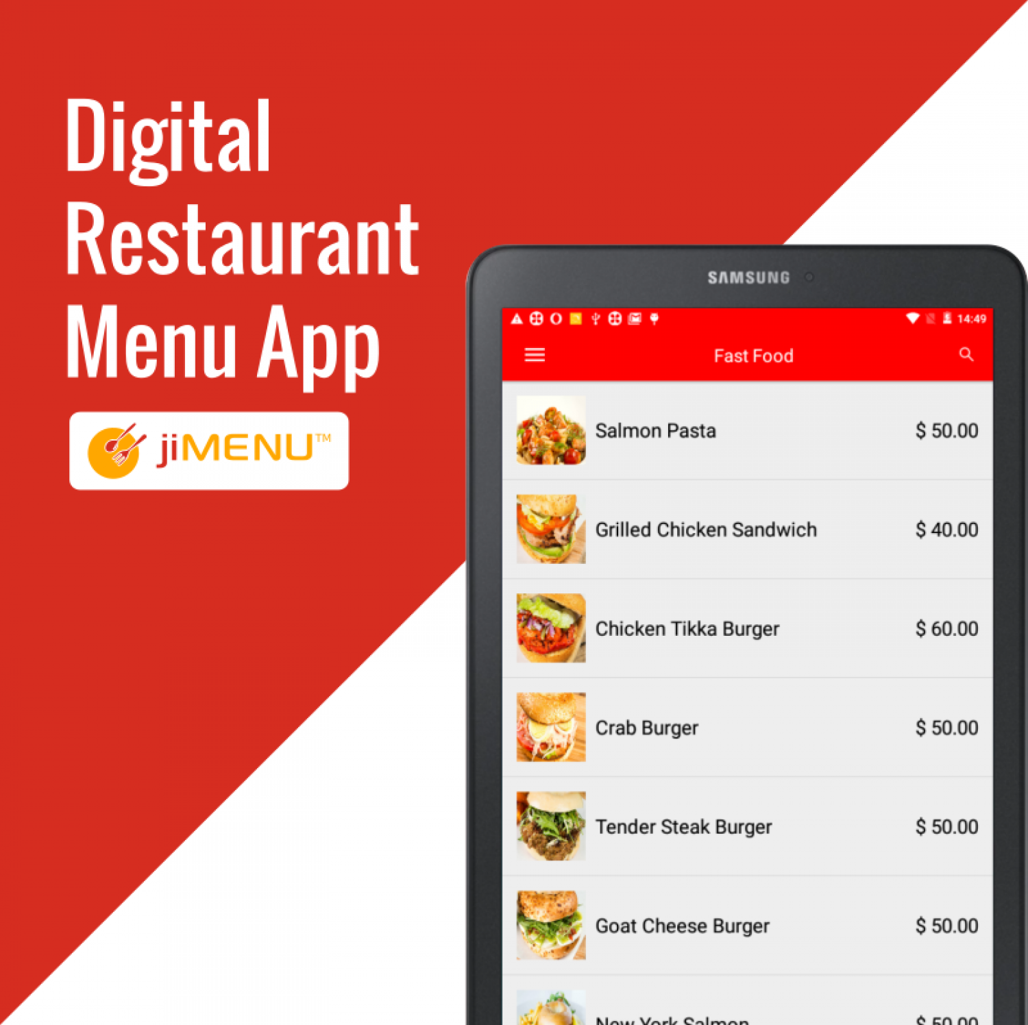 Swipe-Up Your Meal with Digital Menu App  Infographic