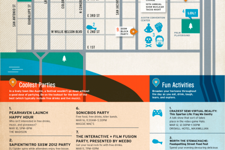SXSW Party Map Infographic