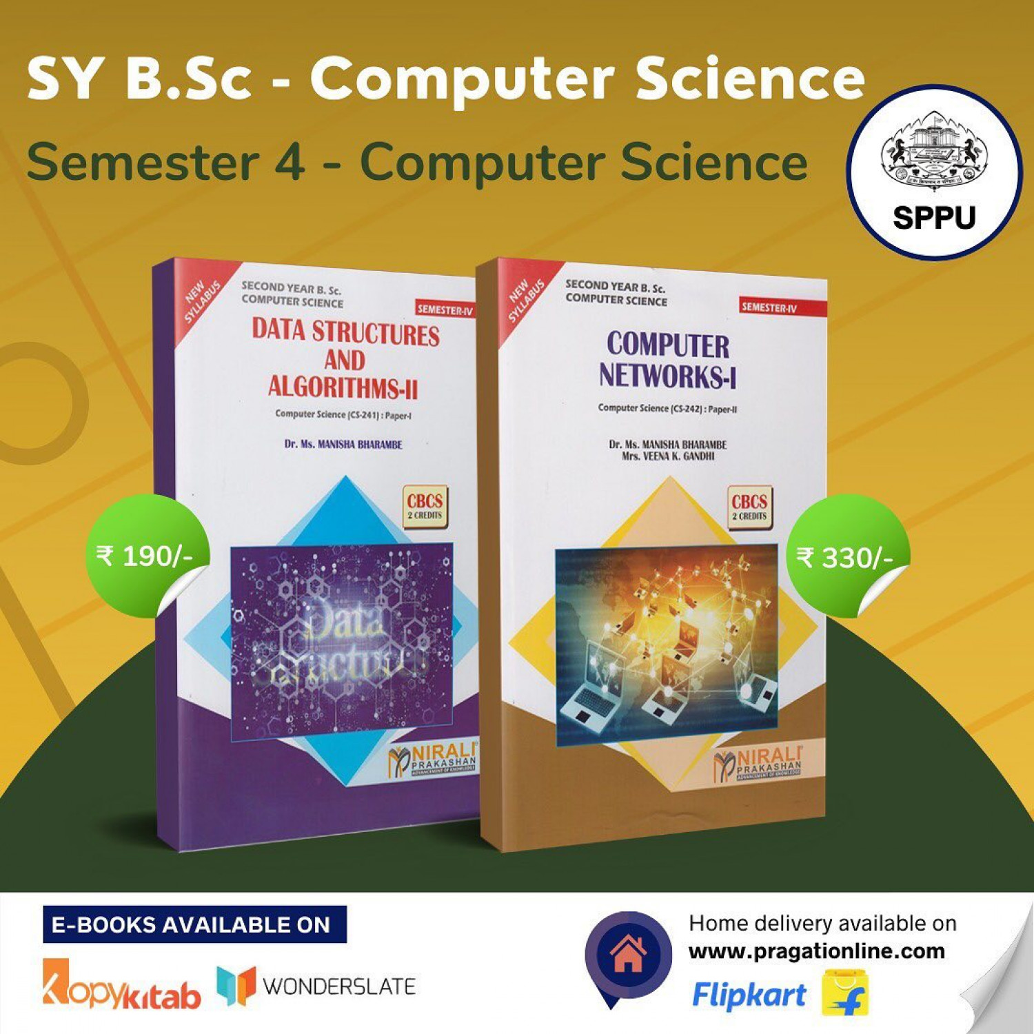 SY B.Sc. Computer Science Semester 4 Textbooks  Infographic