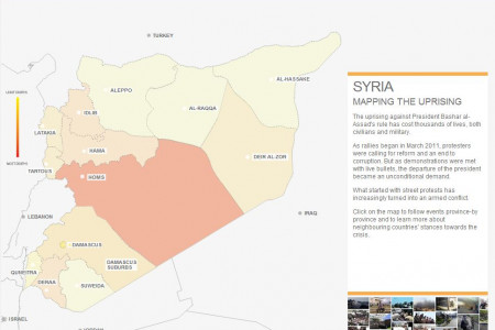Syria Uprising Infographic