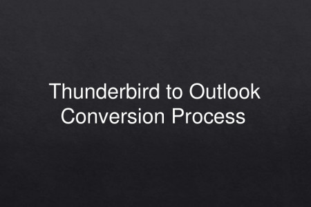 SysBud Thunderbird to Outlook Converter Infographic